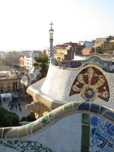 park guell tower view