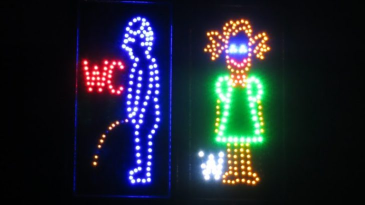 neon toilet signs